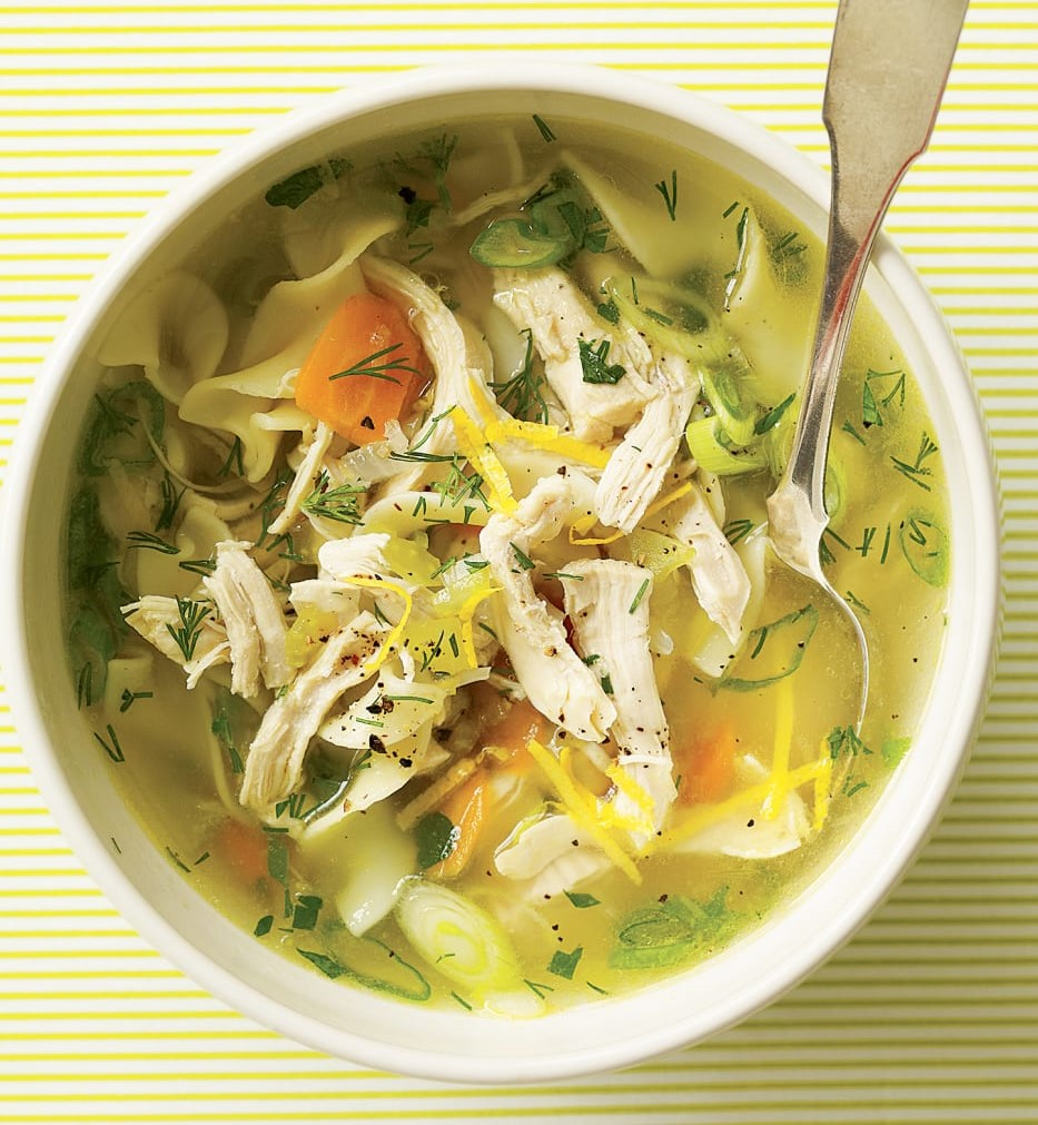 chicken soup pic, source Rachael ray in season